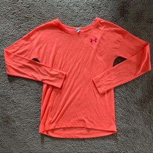 Under Armour Long Sleeve Top Coral Size M